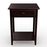 Stony-Edge Night Stand End Accent Table, with USB Port ...