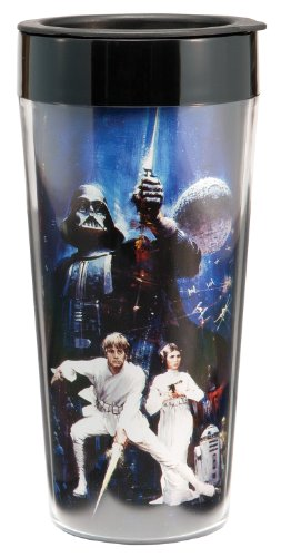 Star Wars 16 oz Plastic Travel Mug, Multicolor - Star Wars Travel Mug