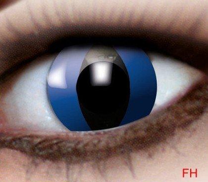 1 Paar farbige Kontaktlinsen blaue Katze 12 monats Linse