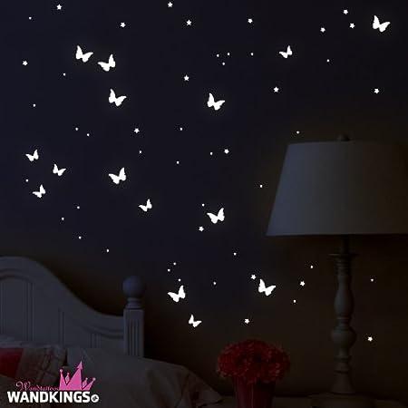 adesivi murali fluorescenti farfalle