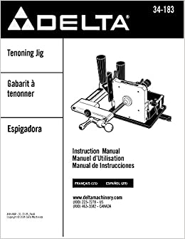Delta 34-183 Tenoning Jig Instruction Manual: Misc