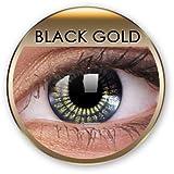 ColourVUE Goldene farbige Kontaktlinsen & golden contact lenses 3 Monatslinsen 1 Paar (2 Stück) ohne Stärke