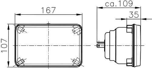 HELLA 003177801 164x103mm H4 High/Low Beam Halogen