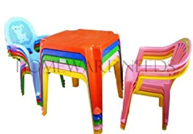 Plastic Childrens Table And Chairs Set