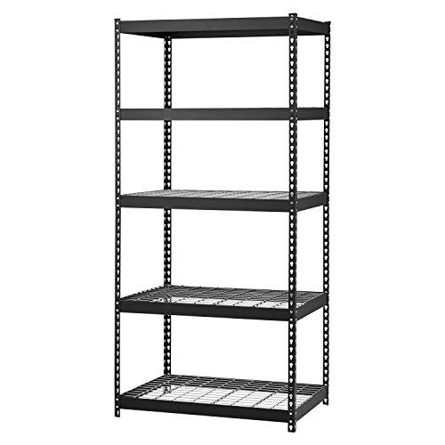 Edsal MROP3618W5B Steel Storage Rack, 5 Adjustable Shelves
