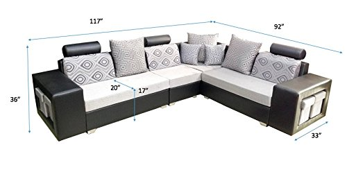 amazon sofa set console table diy 40 off on puffy corner 2 1 c paisawapas com
