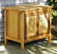 Amazon.com : Outdoor Storage Buffet Server Cabinet ...