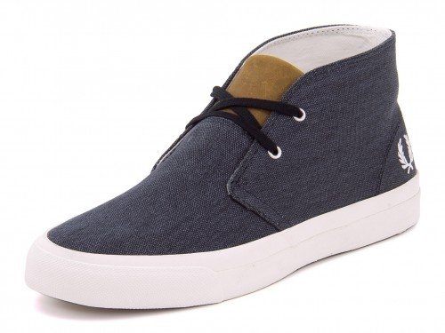 FRED PERRY(フレッドペリー) VERNON MID PRINTED CANVAS B5212 608 ネイビー