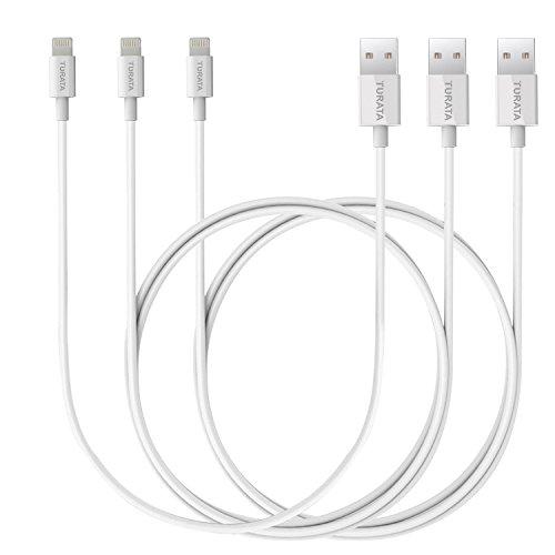 TURATA iPhoneケーブル USBケーブル スマホ急速充電 データ転送 高耐久 3本セット91CMx2 30CMx1ホワイト