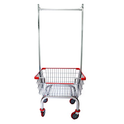 Coin Laundry Cart, CART&SUPPLY [Heavy Duty][Rolling Cart