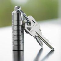 Stainless Steel Keychain Pill Holder  Slim Single Chamber ...