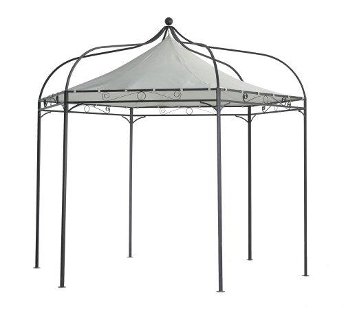 Luxus Pavillon Modena 6-eckig 320cm, Dach wasserdicht écru