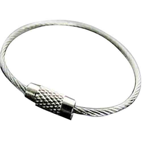 Yansanido Key Ring Keychain Aircraft Cable Wire Stainless