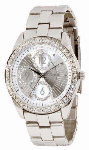 Spirit Damen-Armbanduhr Analog Formgehäuse Silber ASPL14