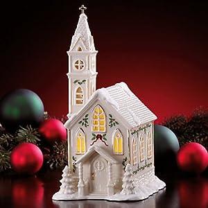Amazoncom Lenox Holiday Christmas Village Church