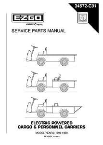 Amazon.com : EZGO 34672G01 1998-1999 Service Parts Manual