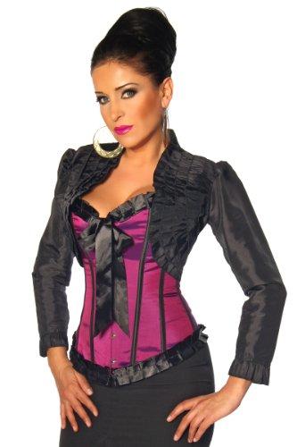 LH Dessous - 11941 Größe S. Romantischer Auftritt! Schöne langärmlige Bolero-Jacke aus Satin mit verspielten Rüschen. Passt perfekt zu unseren Corsagen, aber auch zu anderen Tops und Jeans.