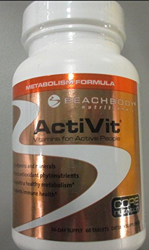 ActiVit Multivitamins: Safe and Natural Herbal Metabolism Formula, 30 Day Supply