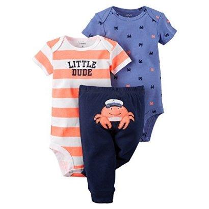 Carters-Baby-Boys-3-Piece-Bodysuit-Pant-Set-3-Months-Captain-Crab