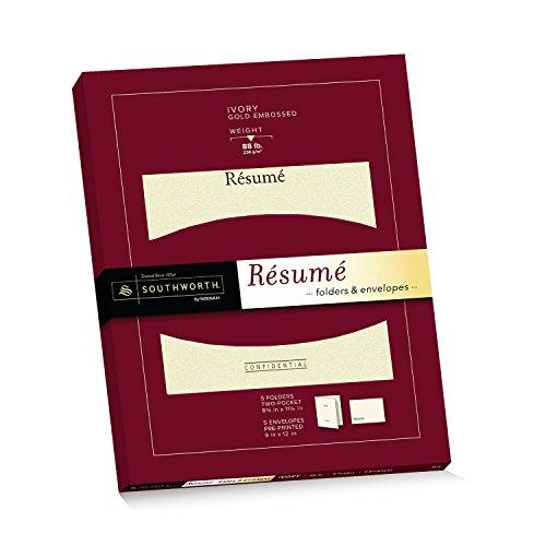 Southworth Exceptional Resume FoldersEnvelopes Packet Ivory RF3