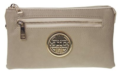 Canal-Collection-Soft-PVC-Leather-Cross-Body-Wristlet-with-Emblem