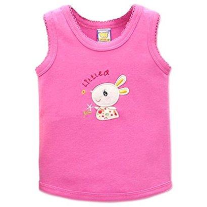 Little-Q-Baby-Pure-Cotton-Baby-Tops-Toddler-VestRose9-12M