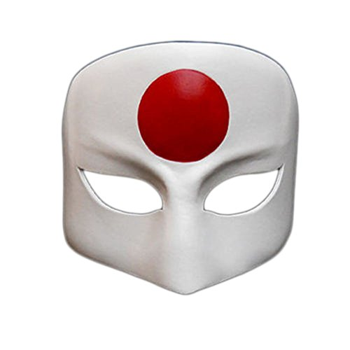 2016 Japanese Katana White Cosplay Leather Women Mask for Party Halloween