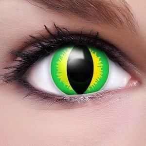 Farbige Kontaktlinsen Crazy Color Fun Contact Lenses 'Hulk Style' Topqualität inkl. 50 ml Lenscare Kombilösung und Linsenbehälter