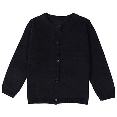 ASHERANGEL-Little-Girls-Basic-Crew-Neck-Solid-Fine-Knit-Cardigan-Sweaters-Black-2T