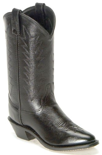 Old West Women's Corona Cowgirl Boot Medium Toe Black 8.5 M US