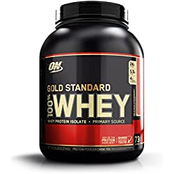Optimum Nutrition Gold Standard 100% Whey Suplemento para Deportistas, Sabor de Fresa - 2270 gr