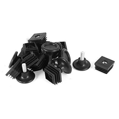 10 Set, 38 mm, Boden, verstellbare Standfüße, 30 mm x 30 mm, für quadratische Rohre einlegen