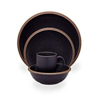 Amazon.com: Dansk Santiago Black 16-Piece Dinnerware Set ...