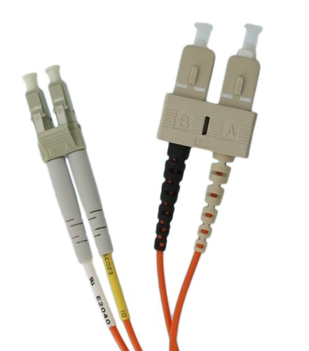 Leviton 50DCL-M02 Fiber Patch Cord, 50/125um Multimode, Duplex, SC to LC, 2 Meters