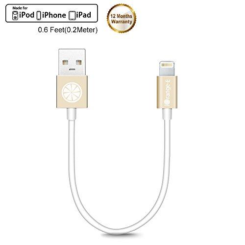 Cable Lightning iOrange-E ,certificado por Apple, corto de