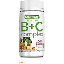 Quamtrax Nutrition Vitaminas B + C Complex - 60 Cápsulas