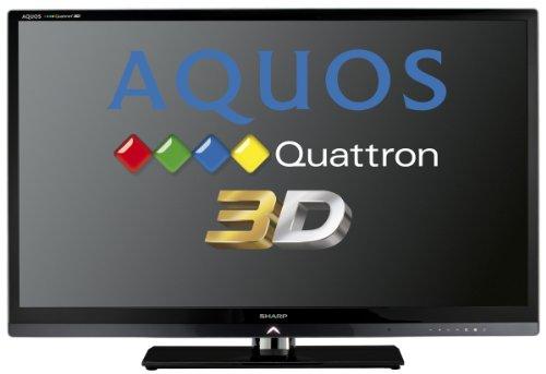 Sharp LC46LE830E 117 cm (46 Zoll) 3D LED-Backlight-Fernseher, Energieeffizienzklasse A (Full-HD, DVB-T/C/S, Smart TV) Schwarz