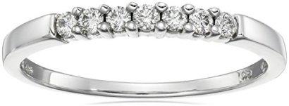 10k-White-Gold-Round-7-Stone-Diamond-Ring-14-cttw-H-I-Color-I2-I3-Clarity-Size-6