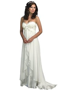Manfei-Womens-Beach-Wedding-Dress-A-line-Empire-Maternity-Bridal-Gown-2016