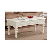 Amazon.com - Off White Coffee Table Distressed Wood