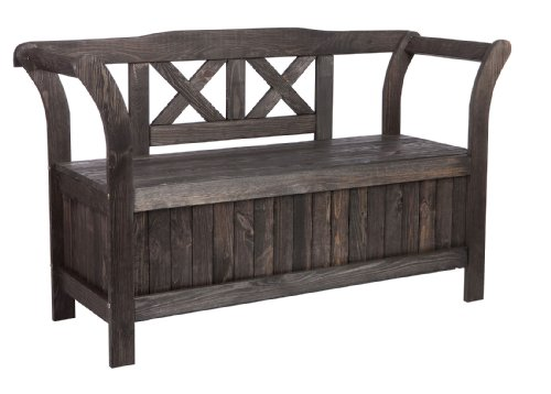 gartenbank truhenbank mit kiste stauraum f r. Black Bedroom Furniture Sets. Home Design Ideas