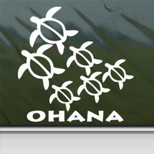 Amazoncom Ohana Honu Sea Turtle Family White Sticker