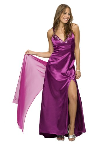 Sehr schönes langes Abendkleid, Farbe purple, Gr.34 von Astrapahl