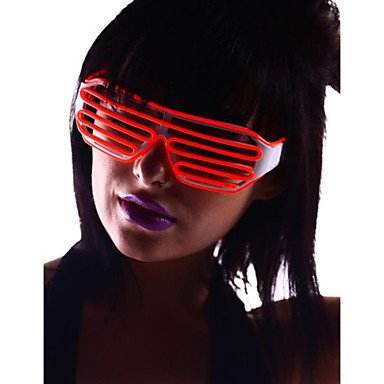 INFINIT-121 Light Up Shades Glasses with Red EL Wire LED Glow Sunglasses 2AA Batteries
