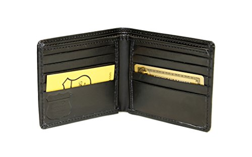 Ashlin RFID Blocking Men's BI-fold Wallet - Genuine VEGAN Leatherette, Lined Currency Compartment, 10 Card Pockets - Keeps Your Identity Safe, Blocks Electronic Pick Pocketing [RFID5728-00-01]