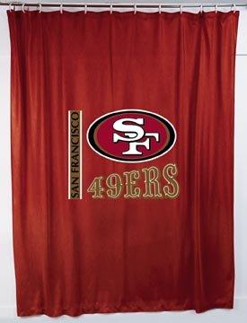 sale san francisco 49ers shower curtain 72x72 nfl lowest devicexxs4