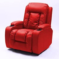 Luxury Leather Massage Rocking Swivel Nursing Sofa Cinema
