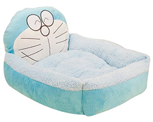 Cute Cartoon Warm Pet Dog Cat Beds with a Heart Pillow