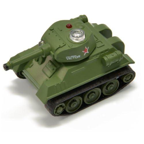 「ラジ・コンバット USB 戦車RC T-34」世界最小!iPad&iPhone用戦車型RC 赤外線 RC・iPhone5、iPad mini 対応