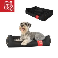 Poi Dog Collapsible Medium Dog Bed Black Dog Beds For Home ...